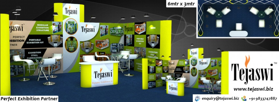18 Square meter Portable Exhibition Kit
