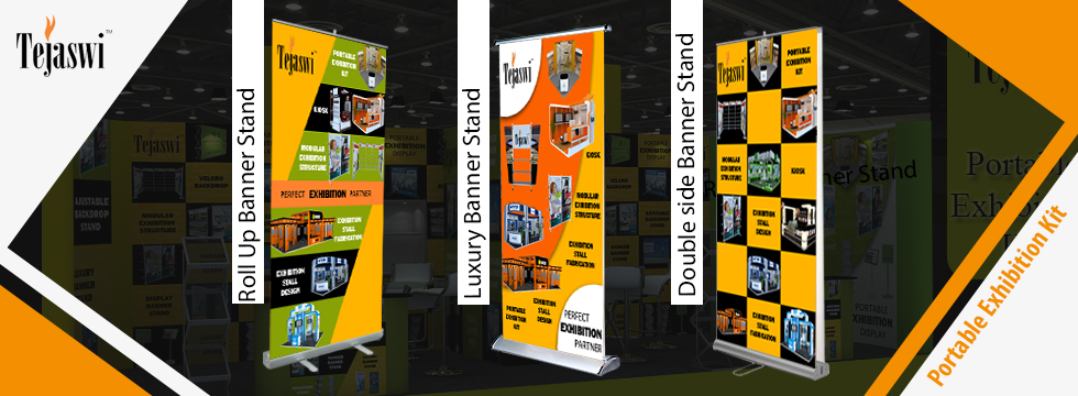 Exhibition Stand Roll Up : Banner stands supplier pan india mumbai delhi