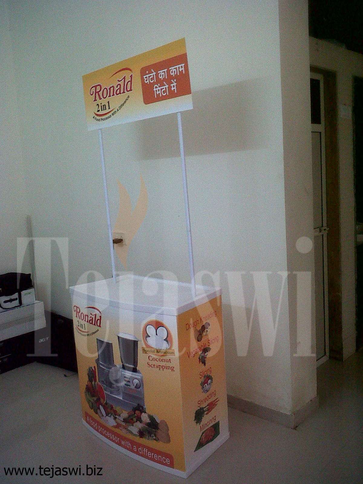 Exhibition Stall Presentation : Promotional table mumbai counter