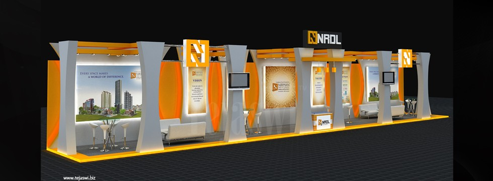Portable Exhibition Stands Dubai : Corporate exhibition stall design business