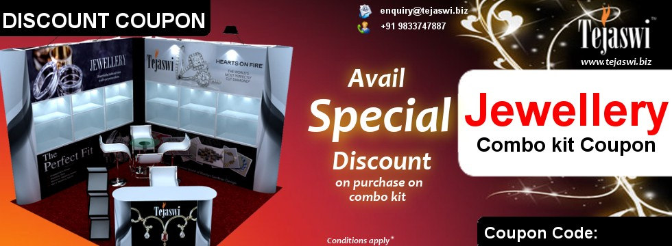 Portable Jewellery Exhibition Discount Combo kit coupon Portable Jewellery Exhibition Kit