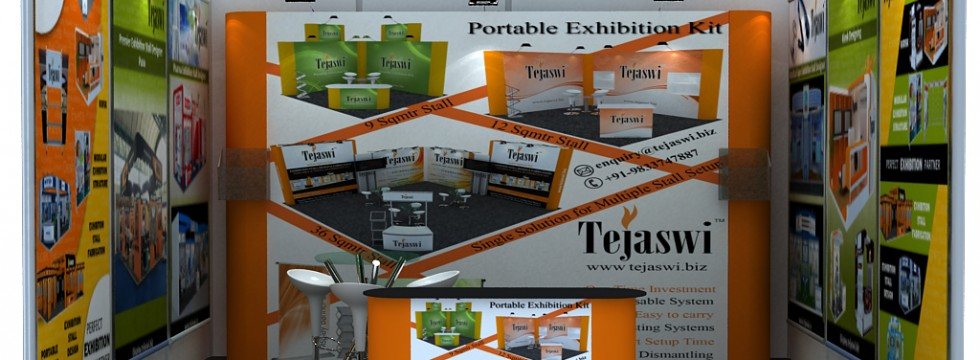 4x3 Meter 1 Side Open Shell Scheme Portable Exhibition Kit Combo TD1S-11
