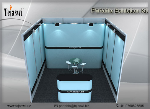 3 mtr x 3 mtr Portable Exhibition Kit 1 Side Open (2)