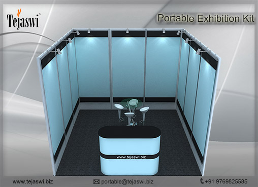 3 mtr x 3 mtr Portable Exhibition Kit 1 Side Open (3)