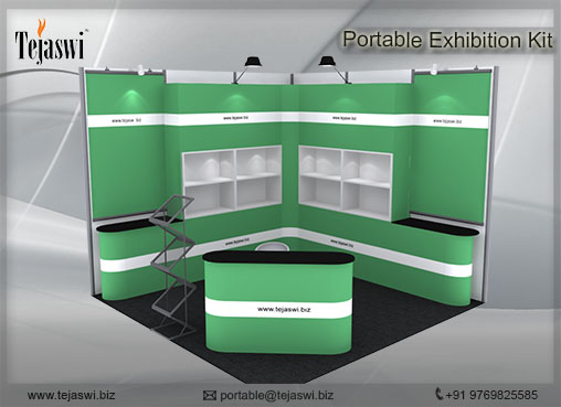 3 mtr x 3 mtr Portable Exhibition Kit 2 Side Open (1)