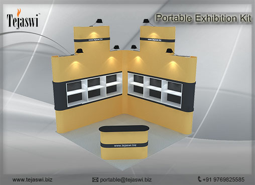 3 mtr x 3 mtr Portable Exhibition Kit 2 Side Open (2)