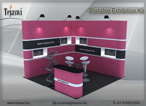 3 mtr x 3 mtr Portable Exhibition Kit 2 Side Open (3)