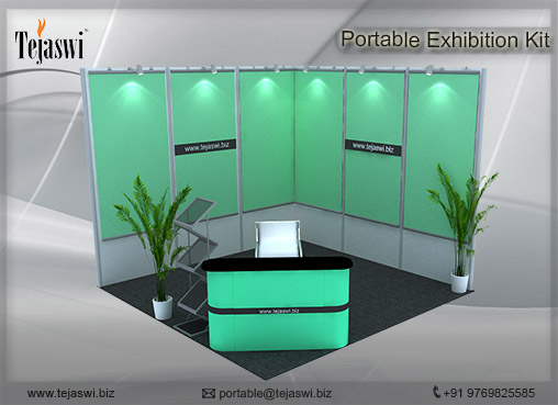 3 mtr x 3 mtr Portable Exhibition Kit 2 Side Open