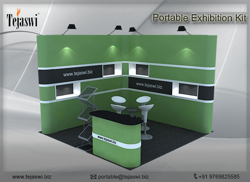 Portable Exhibition Kit : Portable exhibition stall combo s product display