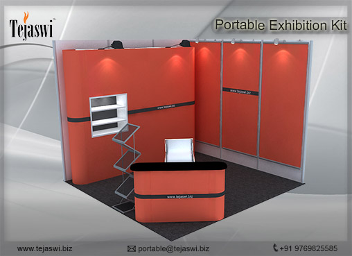 3 mtr x 3 mtr Portable Exhibition Kit 2 Side Open (5)