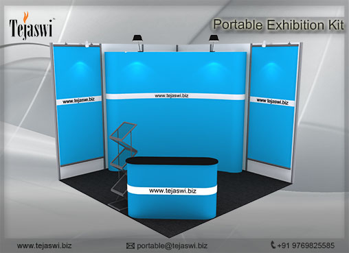 3 mtr x 3 mtr Portable Exhibition Kit 2 Side Open (6)
