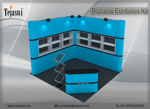 3 mtr x 3 mtr Portable Exhibition Kit 2 Side Open (7)