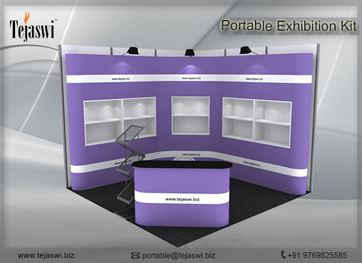 3 mtr x 3 mtr Portable Exhibition Kit 2 Side Open (8)