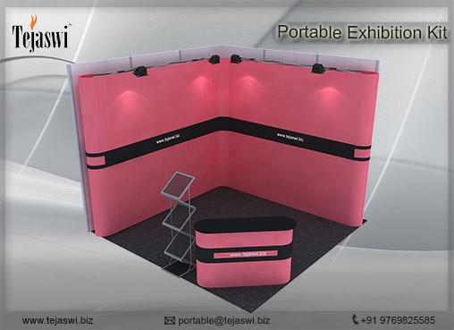 3 mtr x 3 mtr Portable Exhibition Kit 2 Side Open (9)