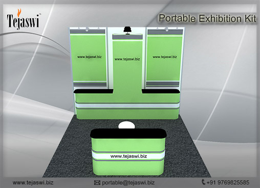 3 mtr x 3 mtr Portable Exhibition Kit 3 Side Open (2)