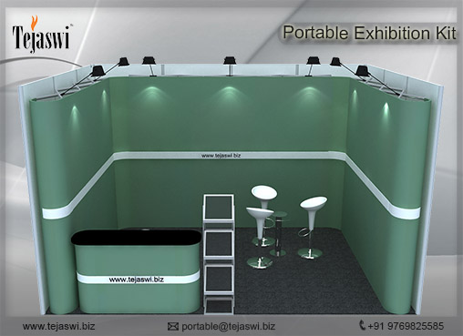 4 meter x 3 meter Portable exhibition kit 1 side _431S-3