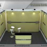 4 metre x 3 metre Portable exhibition kit 1 side_431S-2