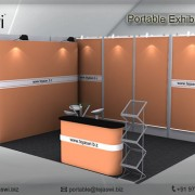 4 meter x 3 meter Portable exhibition kit 2 side 43S2_2