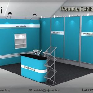 4 meter x 3 meter Portable exhibition kit 2 side Open_432S-4