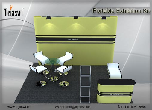 4 meter x 3 meter Portable exhibition kit 3 side Open_433S_2