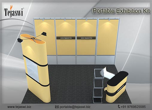 4 meter x 3 meter Portable exhibition kit 3 side _433S-1