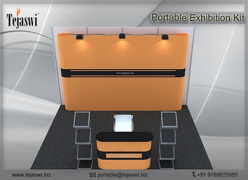4 meter x 3 meter Portable exhibition kit 3 side_433S-3