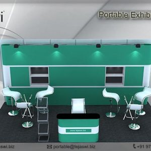 6 Meter x 3 Meter Portable Exhibition Kit 3 side open_633S-3