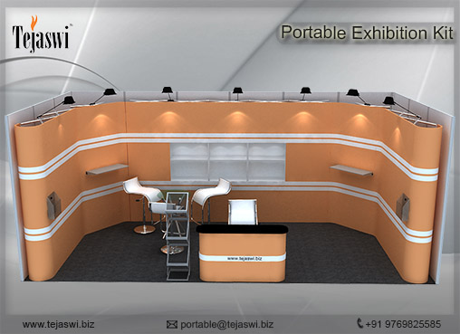 6 meter x 3 meter Portable exhibition kit 1 side Open_631S-5