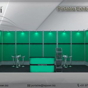 6 meter x 3 meter Portable exhibition kit 1 side Open__631S-1