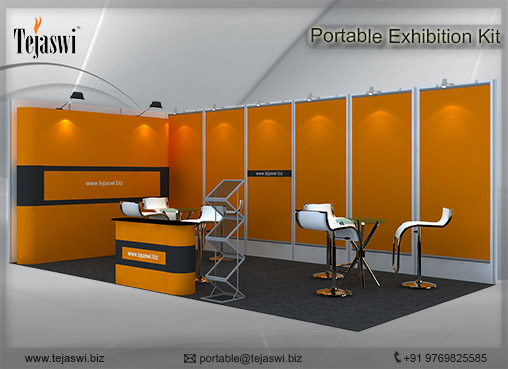 6 meter x 3 meter Portable exhibition kit 2 side Open_632S-2