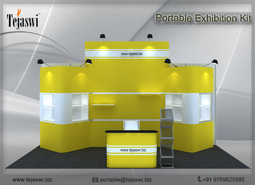 6 meter x 3 meter Portable exhibition kit 3 side open_633S-7