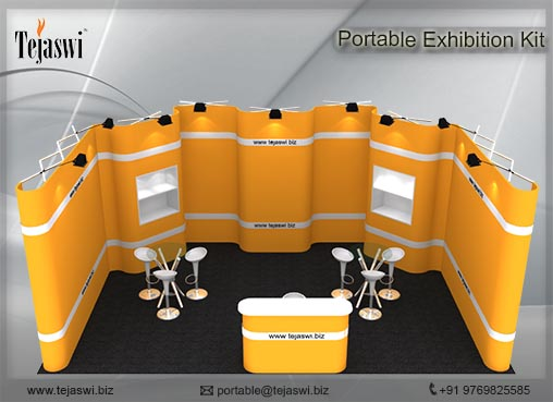 6 meter x 3 meter Portable Exhibition kit_1 side open_631S-8