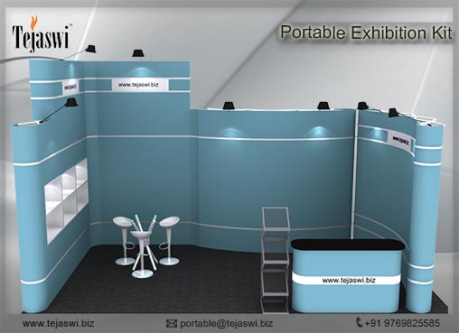 6 meter x 3 meter Portable Exhibition kit_1 side open_631S-9
