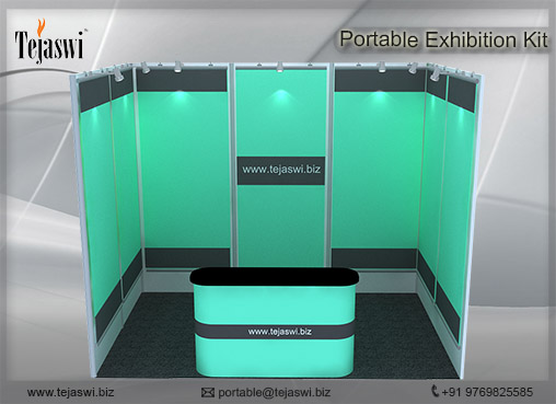 2 meter x 3 meter Portable Exhibition Kit 1 Side Open_231S-1