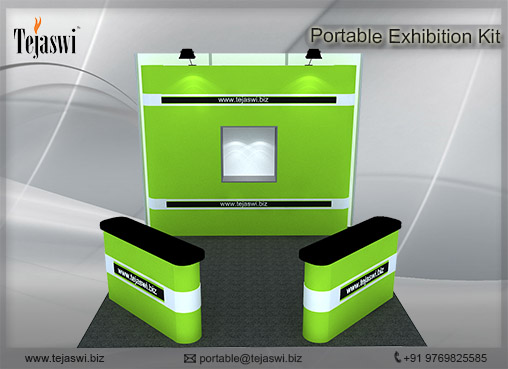 3 mtr x 3 mtr Portable Exhibition Kit 3 Side Open 333s-5