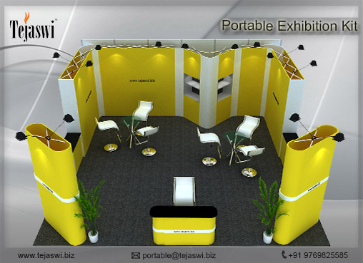 6 Meter x 6 Meter Portable Exhibition Kit 3 side open _663S-1
