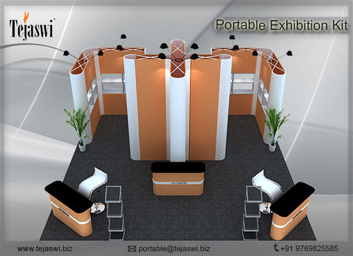 Portable Exhibition Stall : Meter portable exhibition stall square
