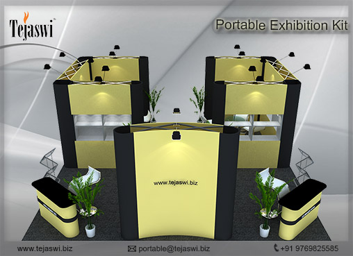 6 Meter x 6 Meter Portable Exhibition Kit 4 side open_664S-2