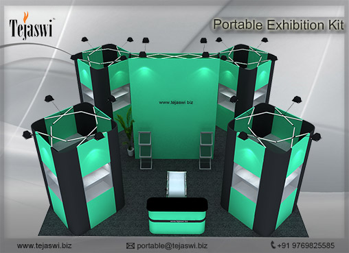 6 Meter x 6 Meter Portable Exhibition Kit 4 side open_664S-3