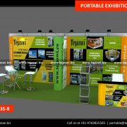 6 Meter x 3 Meter Portable Exhibition Stand 633S-8
