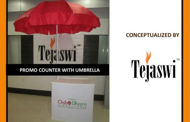 Promo Counter with Umbrella Setup Video