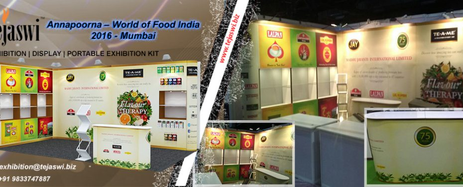 Portable Exhibition Kit Price : Annapoorna world of food india mumbai portable exhibition kit