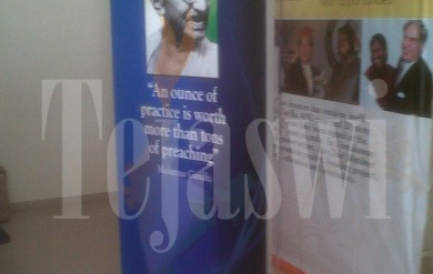 Triple Sided Banner Stand