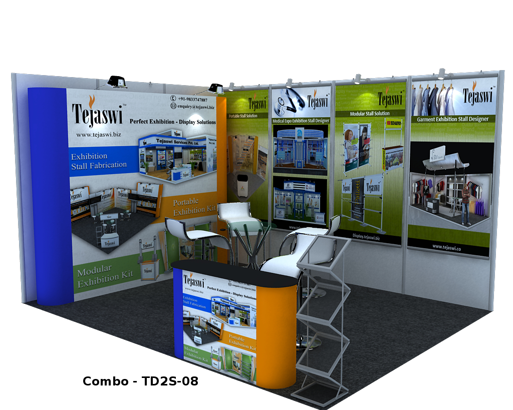 Exhibition Stall Posters : Meter side open shell scheme portable exhibition kit combo