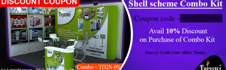 Discount Coupon 4x3 Meter 2 side open Portable Exhibition Kit Combo