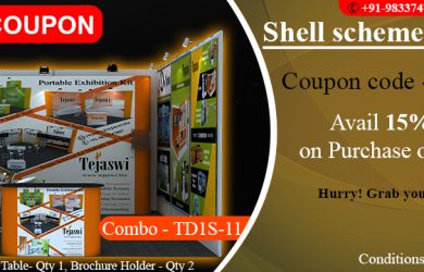 Discount Coupon 4x3 Meter 1 Side Open Shell Scheme Portable Exhibition Kit Combo TD1S-11
