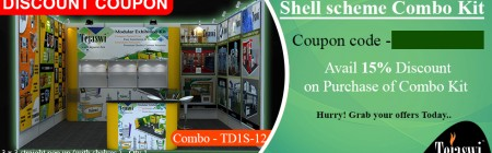 Discount Coupon 4x3 Meter 1 Side Open Shell Scheme Portable Exhibition Kit Combo TD1S-12