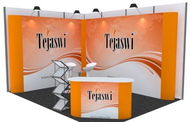 4x3 Meter 2 side open Portable Exhibition Kit Combo