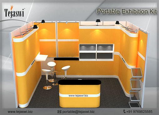 4 meter x 3 meter Portable Exhibition Stall 1 side open_431S-5