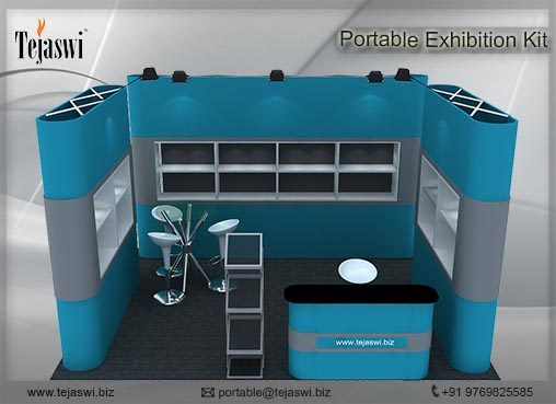 4 meter x 3 meter Portable exhibition kit 1 side Open_431S-8